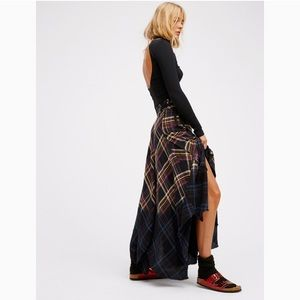 New Free People Dipped In Dreams Ombré Maxi Skirt